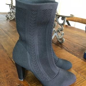 Shoes - CHARLES DAVID SOCK BOOTS 8 Black Stretch Knit Boot